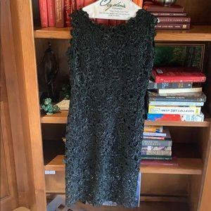 Italian black lace dress by La Babilonia